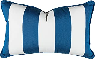 Sunbrella 12'' x 20'' Pillow With Welt & Dacron Insert Fabric, Cabana Regatta