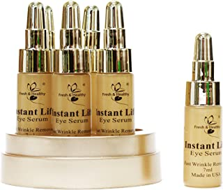 Anti-Aging Eye All Natural Collagen Elastin Serum Firming, Instant Lifting for Puffiness, Wrinkles, Fine Lines, Bags, Crow's Feet and Dark Circles - 1.42 Fl Oz