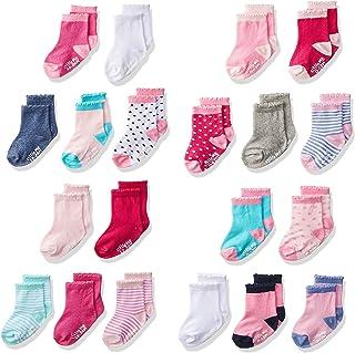 Little Me Infant Socks & Baby Girl Socks, 20 Pairs, 0-12/12-24 Months, Assorted