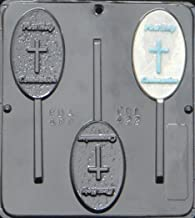 Religious First Holy Communion Lollipop Chocolate Candy Mold 422