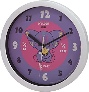 Pink Chillies Yara Purple Silent Sweep Learn the Time 25cm Wall Clock, 10-Inch