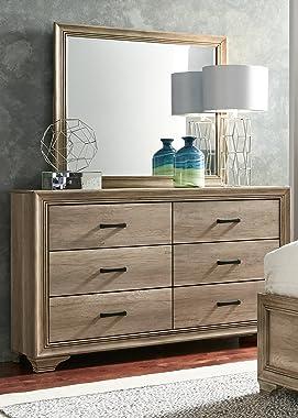 Liberty Furniture Industries Sun Valley Dresser & Mirror, W58 x D16 x H72, Sandstone Finish