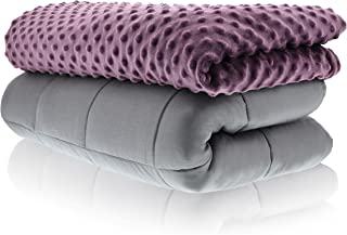 Sonno Zona Weighted Blanket Adult Size - Blanket with Cover Included - Plum 48x72 inches 10 Pound - Blankets Made from Relaxation Sleep Fabric for Natural Calm