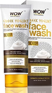 WOW Skin Science Greek Yoghurt Face Wash - No Parabens, Sulphate, Silicones & Color (100mL)