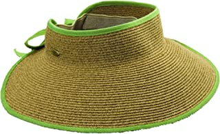 Cappelli Women's Roll-up Wide Brim Sun Visor Hat