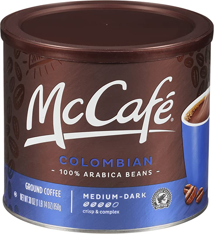 McCafe Colombian Roast Ground Coffee 30 Oz Canister