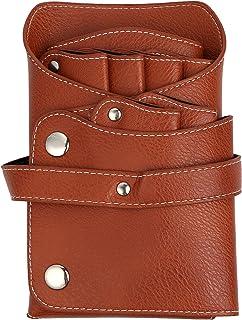 ケーセブン シザーバッグ 6ポケット レザー ベルト付き ブラウン
