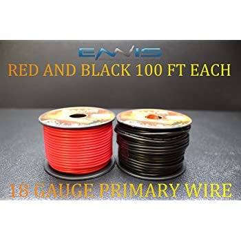 18 GAUGE WIRE BY ENNIS ELECTRONICS 100 FT WHITE SPOOL PRIMARY AWG COPPER CLAD