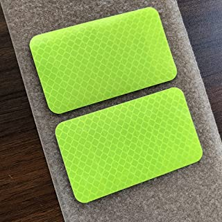 2 Pack 2x3.5 inch Extra Reflective Morale Fastener Patch with Hook Hi Vis Patch for Safety (Fluor Yellow)