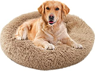 Sponsored Ad - Dog Bed Cat Bed Donut, Soft Faux Fur Self-Warming Pet Bed, Donut Cuddler Round Calming Dog Bed for Small Me...
