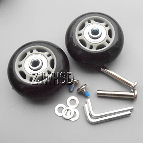 2Set Luggage Suitcase Replacement Wheels OD76mm ID 6 W 22 Repair Set Axles 35mm