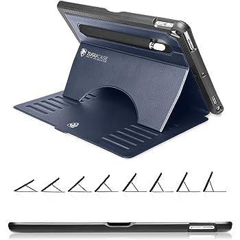 ZUGU iPad Air3 ケース 2019 / iPad Pro 10.5 ケース 2017 Prodigy X 落下衝撃保護 極薄 8段階スタンド機能 オートスリープ スマートカバー (ネイビー)