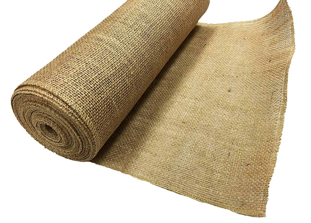 AK TRADING BUR14-10YDS Burlap Fabric Roll for DIY Crafts & Home Décor Natural, 14