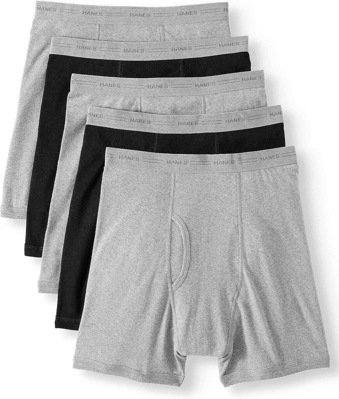 Hanes Big Men's FreshIQ ComfortFlex Waistband Boxer Brief - 5 Pack