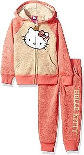 Hello Kitty 幼儿女童丝绒套装带亮片贴花