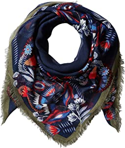Floral Paisley Square Scarf