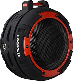 Enermax EAS03-BR O'marine Waterproof Wireless Speaker, 3.5mm Aux Input, IPX8 Rating, Black & red