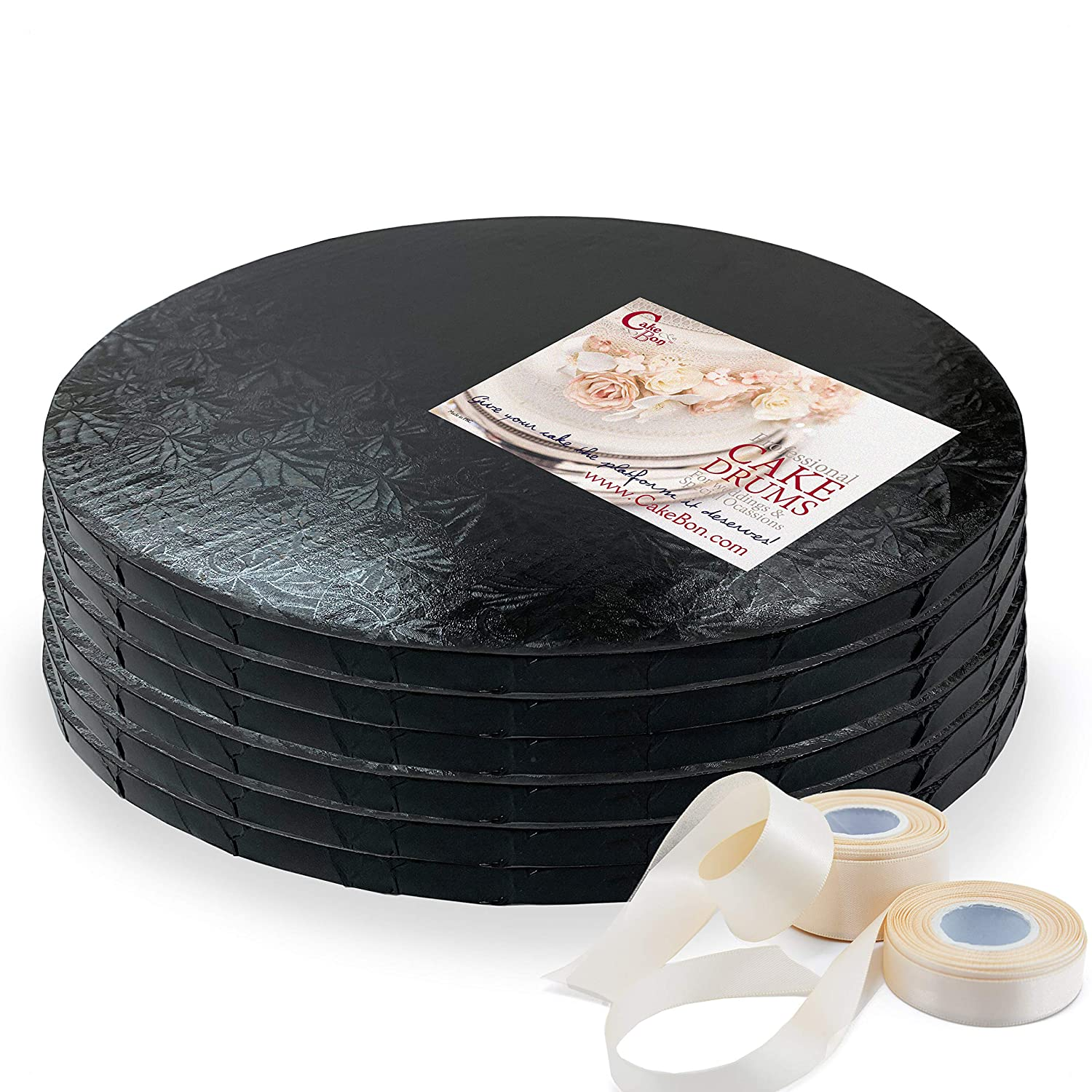 Cake Drums Round 14 Bargain Inches - Black 2 1 6-Pack 2021 model T Inch Sturdy