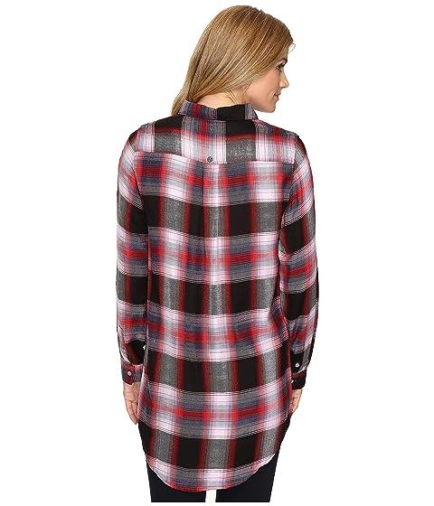 Rayon Jag Yarn Jeans Magnolia Dye in Plaid Tunic wfg6q8w