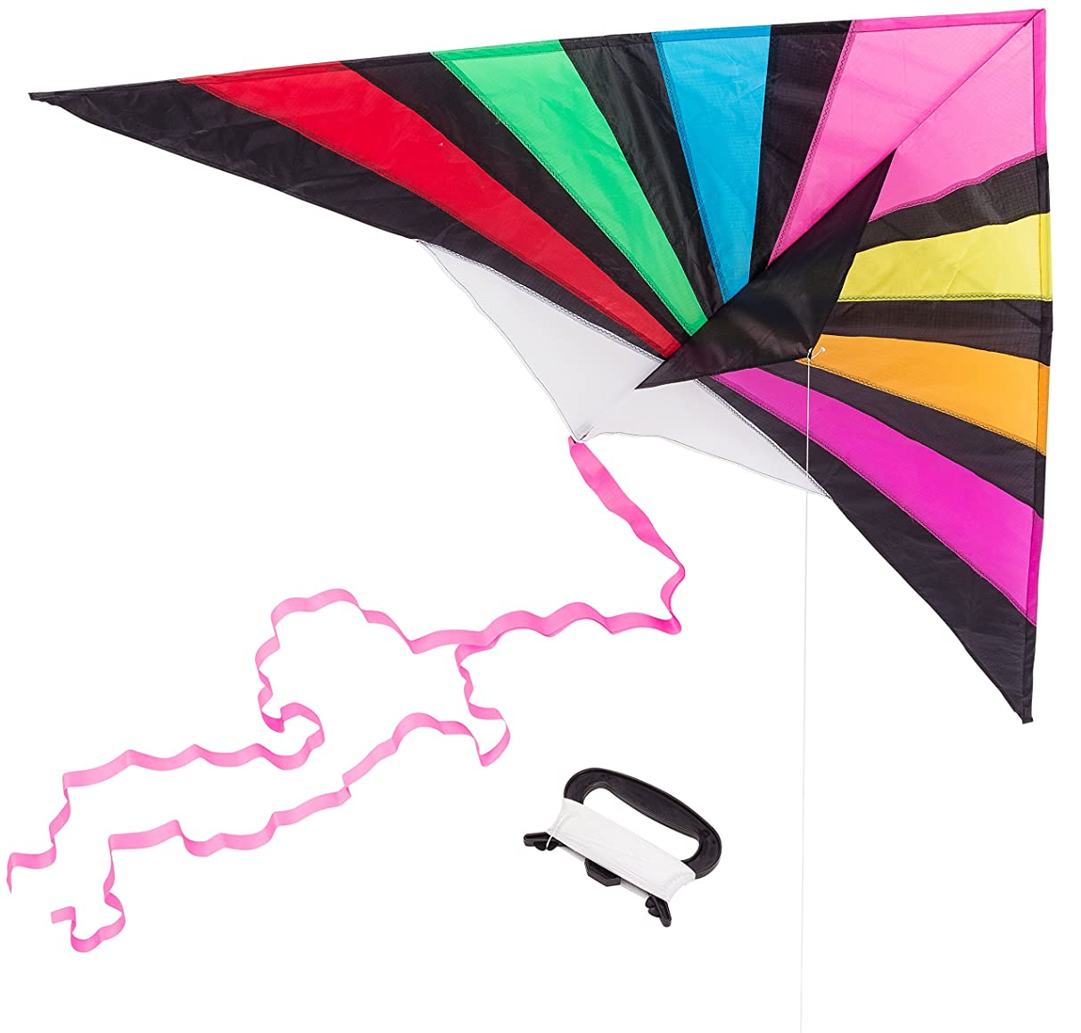 Latest Kites For kids and adults| Easy to Fly | Delta Kite Vivid Color with long Tail | 63