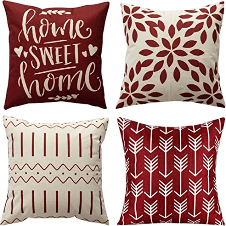 8 Colors Available 100/% Cotton and Machine Washable 18x18 Acid Wash Throw Pillow Case Set of 4