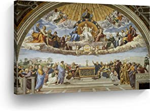 Disputation of The Holy Sacrament Raphael Canvas Print Famous Fine Art Fresco Painting Reproduction Canvas Wall Art Scripture Christian Wall Art Home Decor Ready to Hang-%100 Made in The USA- 24x36
