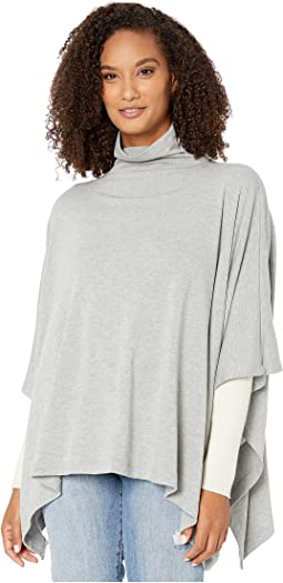 Funnel Neck Sweater Poncho