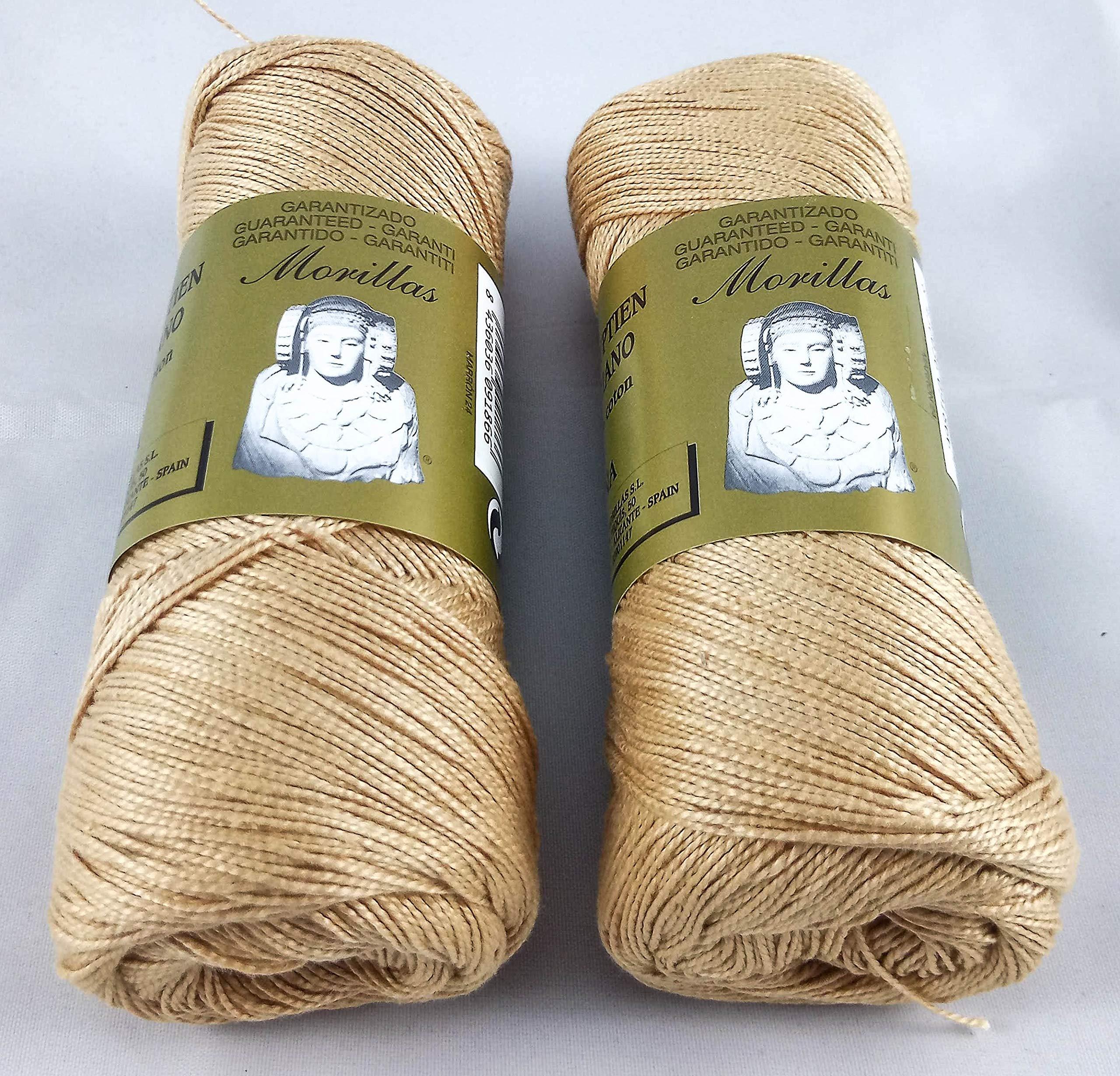 ▷ Pack de 2 Zepelines Ne 5/2 color marrón 24 de algodón perlé 100 ...