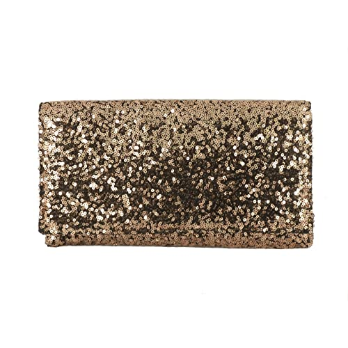 d2601732f0a Loni Womens Sparkly Sequin Party Evening Clutch Shoulder Bag