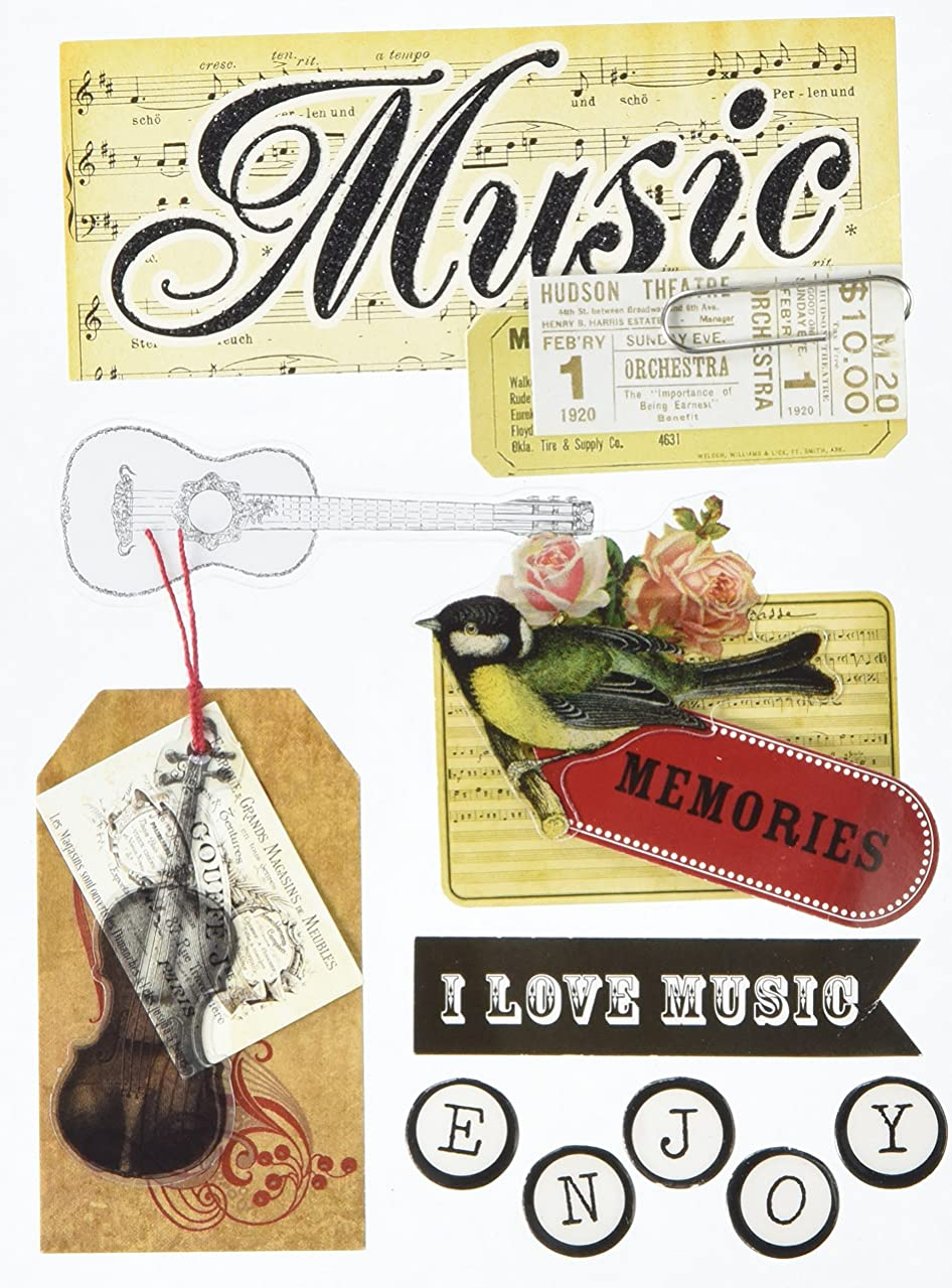 me & my BIG ideas Soft Spoken Themed Embellishments, Vintage Music