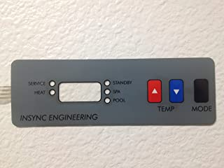 COMPATIBLE WITH ALL HAYWARD H SERIES POOL HEATER REPLACEMENT CONTROL PANEL KEYPAD MEMBRANE SWITCH. INSYNC ENGINEERING DESIGNED AND MANUFACTURED -NOT AFFILIATED IN ANY WAY WITH HAYWARD POOL PRODUCTS.