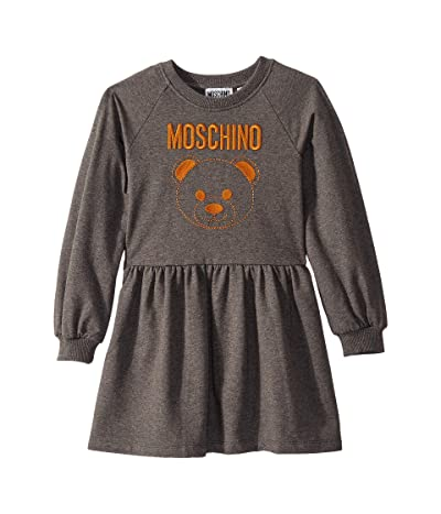 Moschino Kids Dress w/ Embroidered Toy Bear (Little Kids/Big Kids) (Grey) Girl