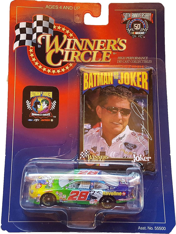 Winner's Circle  NASCAR  50th Anniversary  1 64 Scale Replica  Batman vs. Joker Showdown at Charlotte  Kenny Irwin (The Joker)  Ford Taurus 28  Texaco Havoline Sponsor