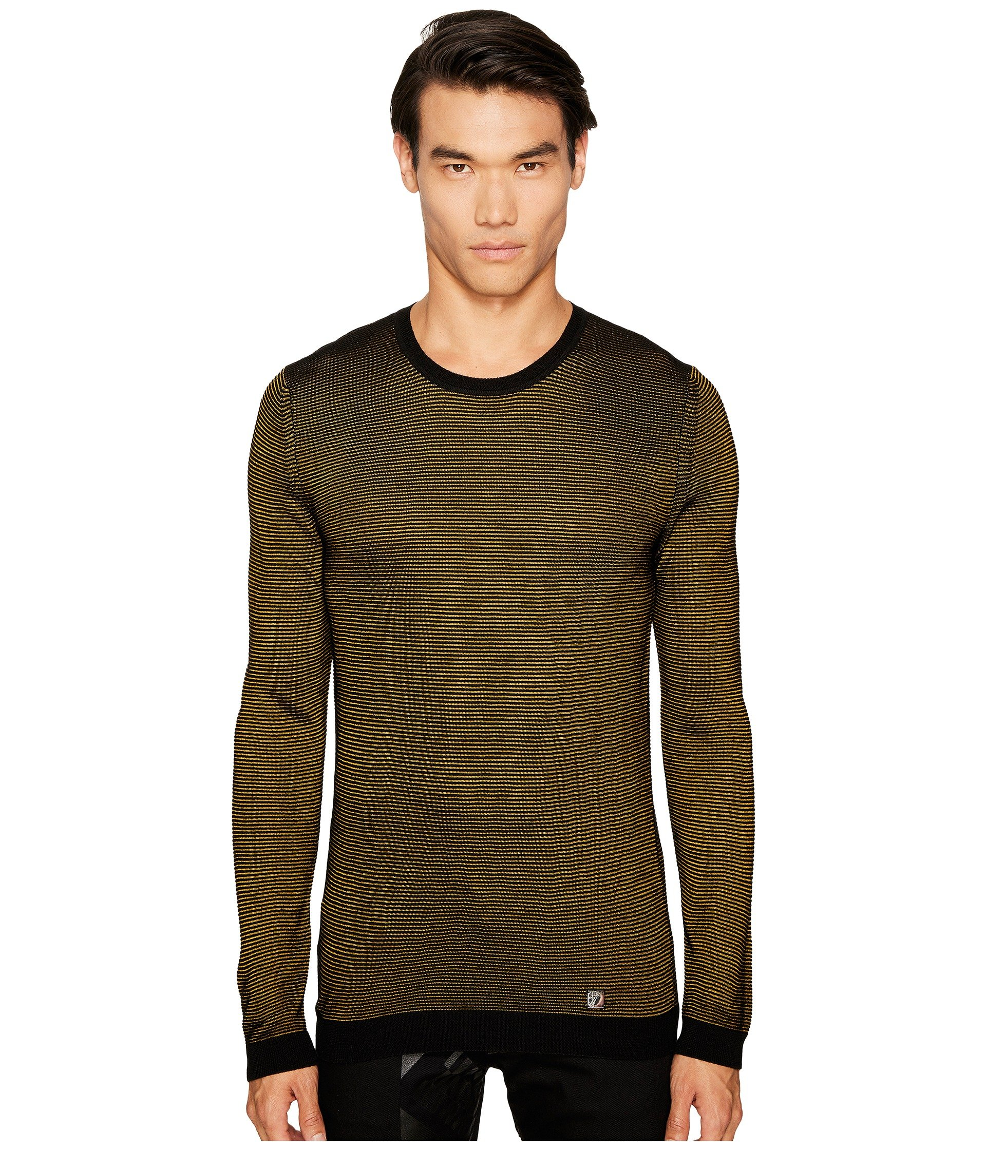 Sueter para Hombre Versace Collection Stripe Knit Sweater  + Versace en VeoyCompro.net