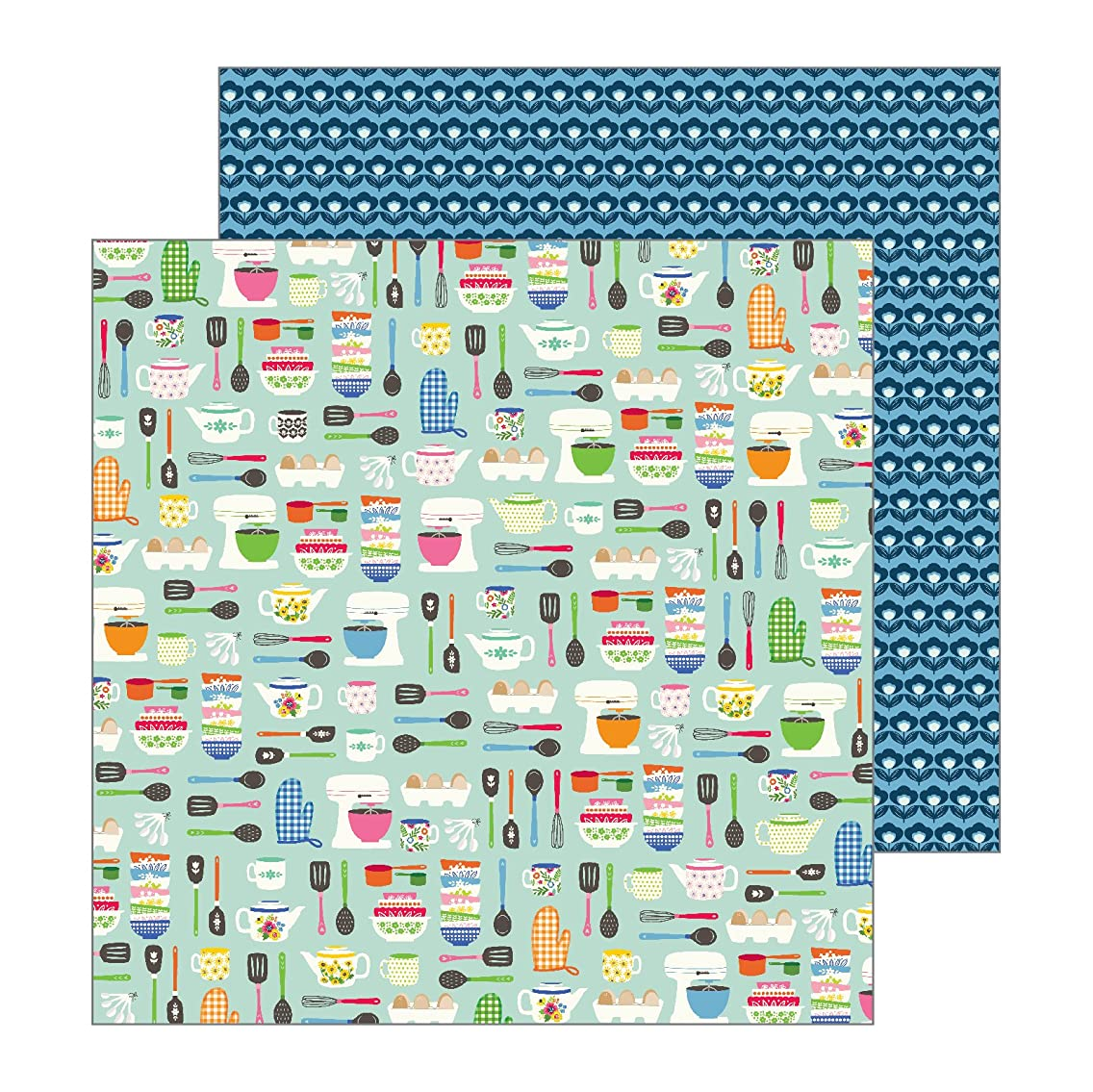 Jen Hadfield 733866 Kitchy Kitchen Paper 12-x-12-Inch Multicolor