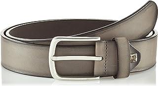 The Art of Belt by LINDENMANN Mens leather belt/Mens belt, full grain leather belt with effect, unisex, grey