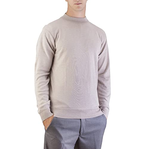 f5df23ec1cf075 Alberto Cardinali Men's Mock Neck Sweater