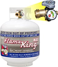 Flame King 20 LB Steel Propane Cylinder with OPD Valve and Built in Gauge