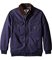 VISSLA Kids - Reynolds Heavy Canvas Flannel Lined Jacket (Big Kids)
