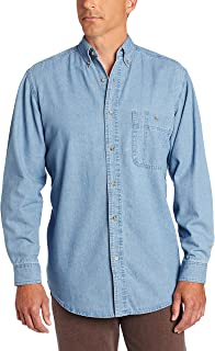 Men's Rugged Wear Basic One-Pocket Denim Shirt