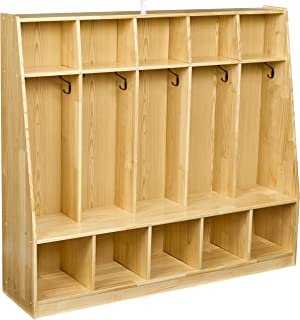 small wooden lockers