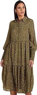 فستان باكمام طويلة للنساء من مجموعة فيولا من فيرو مودا، دخاني