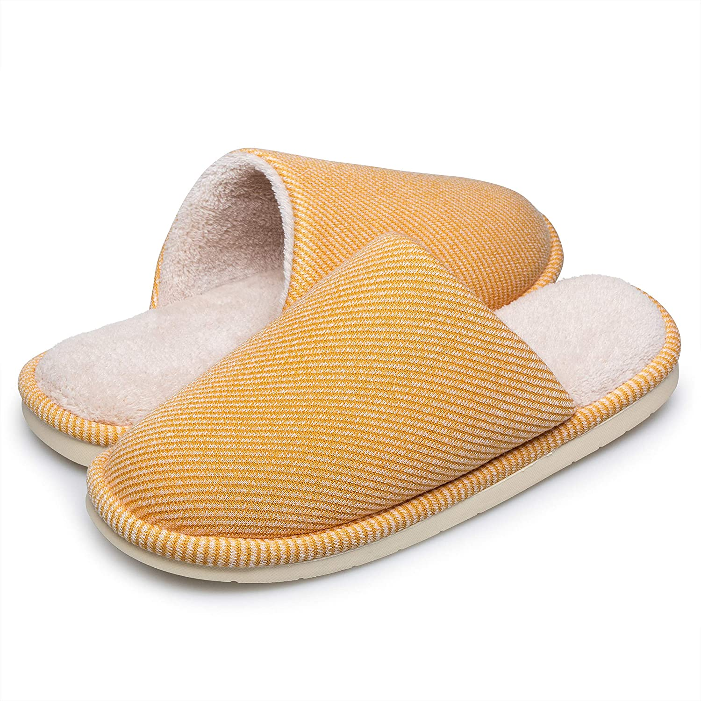 Ritiriko Herren Hausschuhe Damen Memory Foam Pantoffeln Winter Slippers Warm Pl/üsch Baumwolle Fleece Gef/üttert Slip auf Anti-Rutsch Haus Schuhe