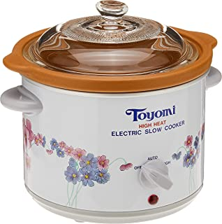 Toyomi HH 1500A High Heat Slow Cooker, 1.2L White