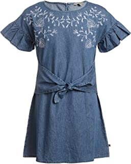 Lucky Brand Big Girls' Short Sleeve Denim Dress