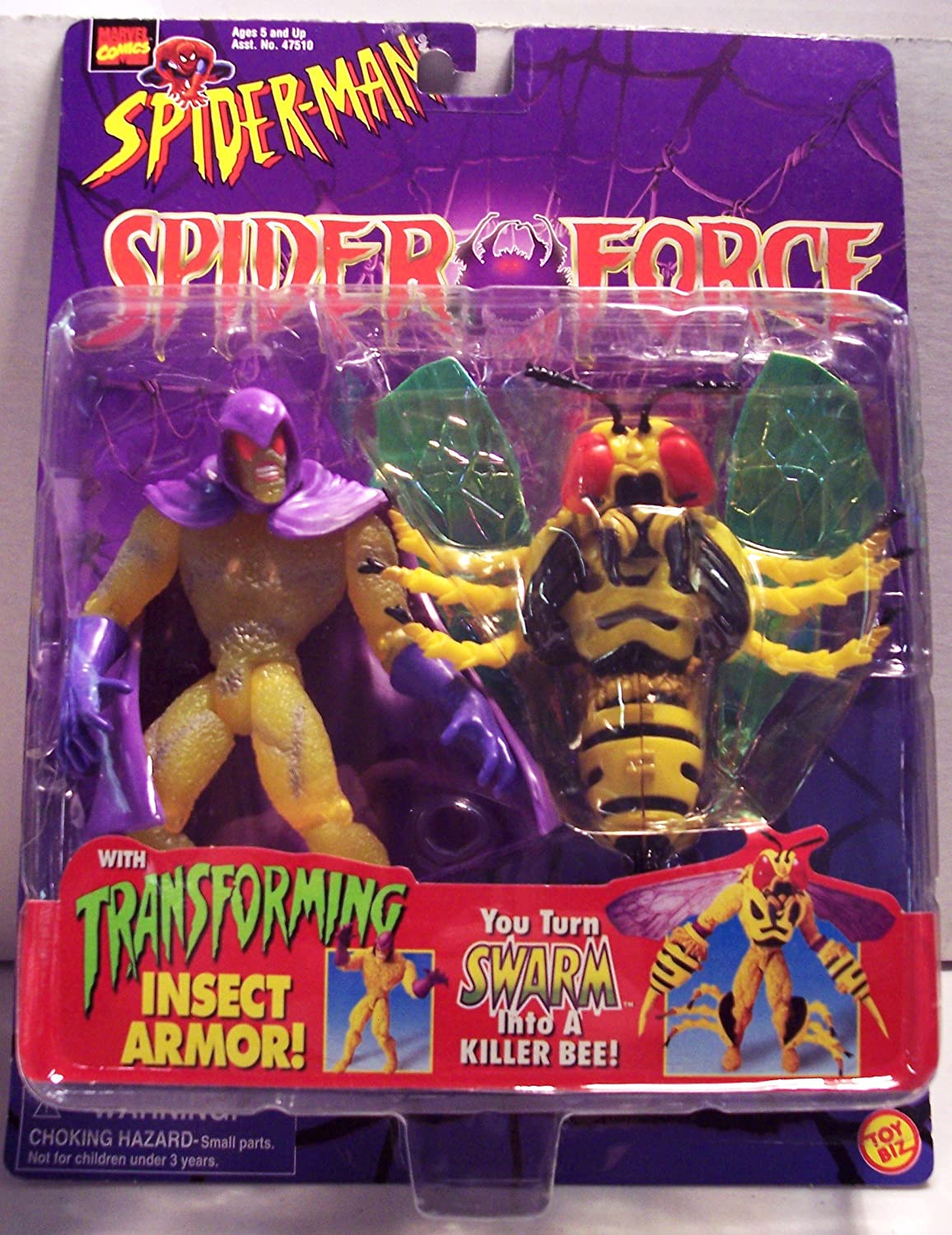 ToyBiz Spider-Man Spider Force Swarm with Transforming Insect Armor Action Figure