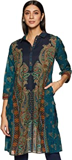 Women's Cotton, Viscose & Georgette Regular Kurta