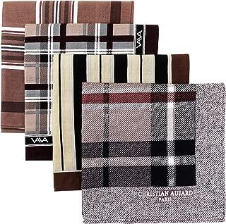 Men/'s 100/% Pure Cotton Handkerchiefs 38CM X 38CM Birthday Gift Bulk Pattern 1