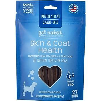Get Naked Grain Free 1 Pouch 6.2 Oz Skin & Coat Dental Chew Sticks, Small