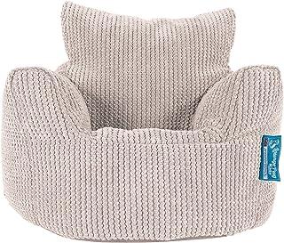Lounge Pug®, Fauteuil Enfant, Pouf Enfant, Pompon Crème